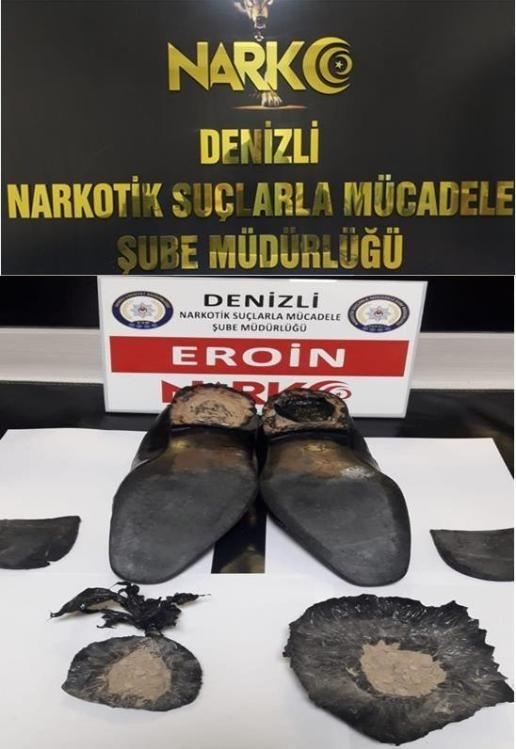 uyuşturucu ayakkabının topuğu
