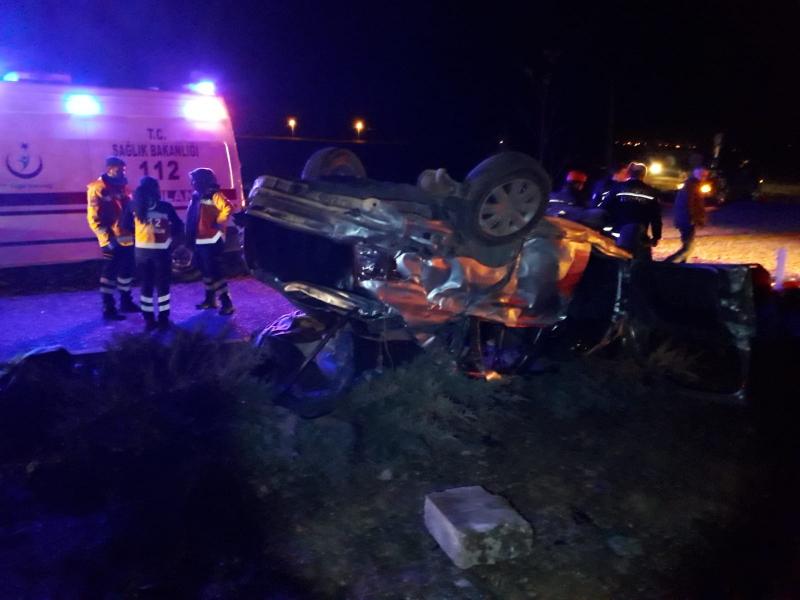 Denizli Tavas'ta Feci Kaza 3 ölü 2 yaralı
