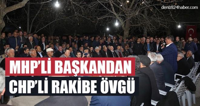 MHP'li Başkandan CHP'li Rakibe Övgü