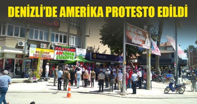 Denizli'de Amerika Protesto Edildi