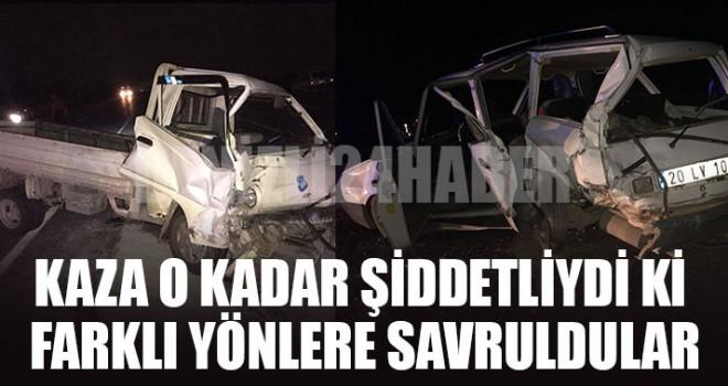 Denizli Çivril kaza 3 yaralı