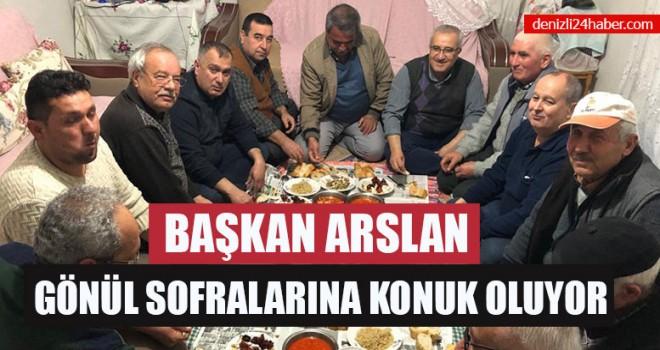 Başkan Arslan Gönül Sofralarına Konuk Oluyor