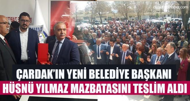 Çardak'ın Yeni Belediye Başkanı Hüsnü Yılmaz Mazbatasını Teslim Aldı