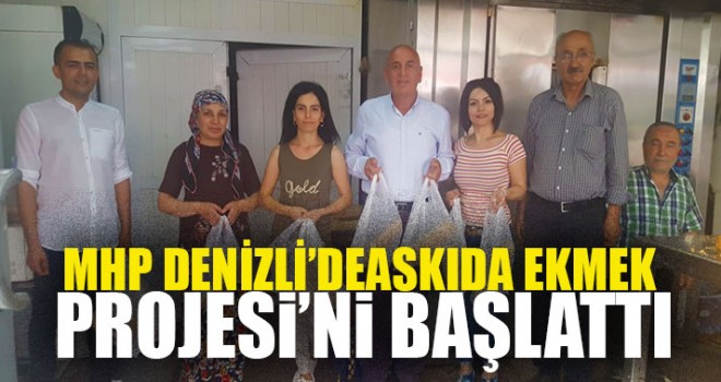 MHP Denizli'de Askıda Ekmek Projesi'ni Başlattı