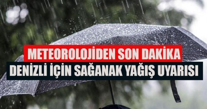 Meteoroloji'den Denizli'ye yağış uyarısı