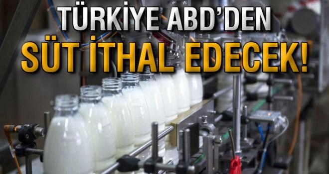Türkiye'den, ABD'den süt ürünleri ithal etme kararı