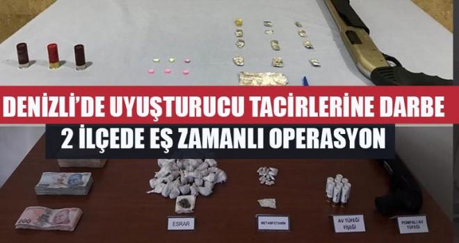Denizli'de Uyuşturucu Tacirlerine Darbe 2 İlçede Eş Zamanlı Operasyon