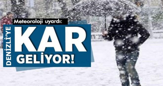 Meteoroloji Açıkladı: Denizli'ye Kar Geliyor!