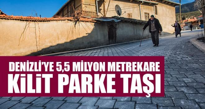 Denizli'ye 5,5 Milyon Metrekare Kilit Parke Taşı