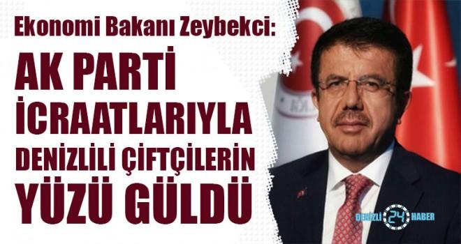 Bakan Zeybekci, AK Parti İcraatlarıyla Denizlili Çiftçilerin Yüzü Güldü