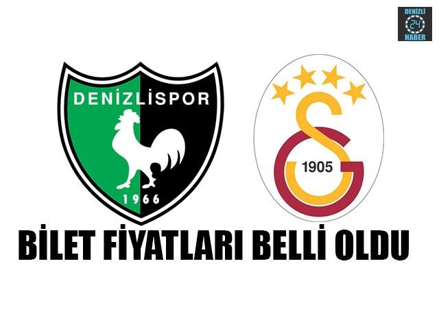 Denizlispor – Galatasaray Maçının Bilet Fiyatları Belli Oldu