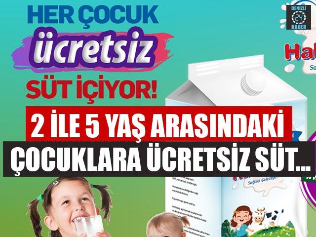 2 İle 5 Yaş Arasındaki Çocuklara Ücretsiz Süt