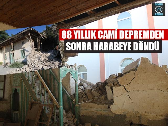 88 Yıllık Cami Depremden Sonra Harabeye Döndü