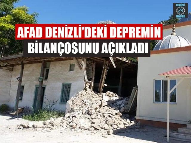 AFAD Denizli'deki Depremin Bilançosunu Açıkladı