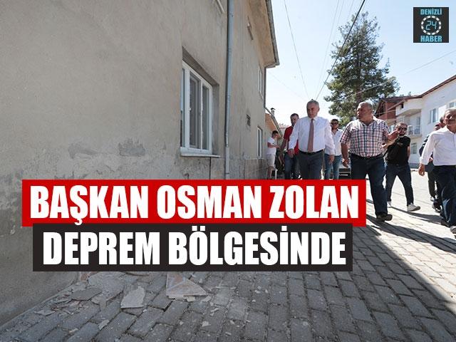 Başkan Osman Zolan Deprem Bölgesinde