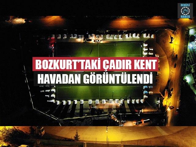 Bozkurt'taki Çadır Kent Havadan Görüntülendi