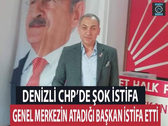 Denizli'de CHP'de şok istifa