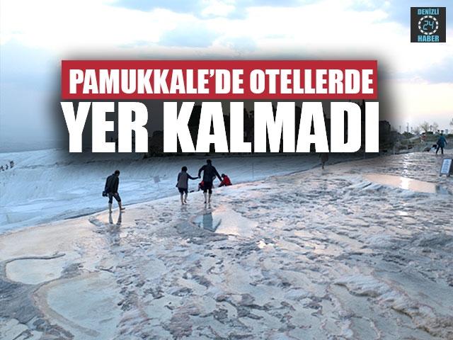 Pamukkale'de Otellerde Yer Kalmadı