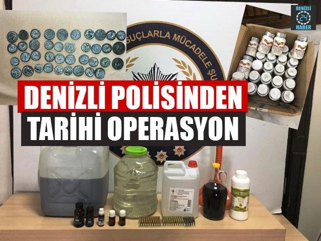 Denizli Polisinden Tarihi Operasyon