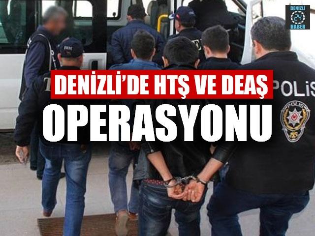 Denizli'de HTŞ ve DEAŞ operasyonu