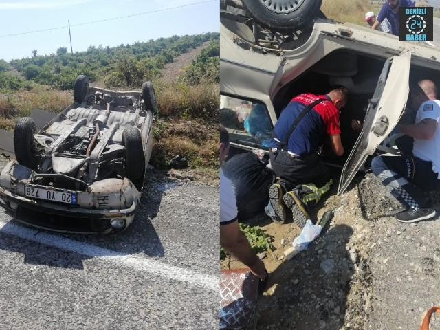 Baklan'da kaza 3 yaralı