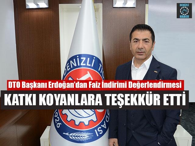 Dto Başkanı Erdoğan Katkı Koyanlara Teşekkür Etti
