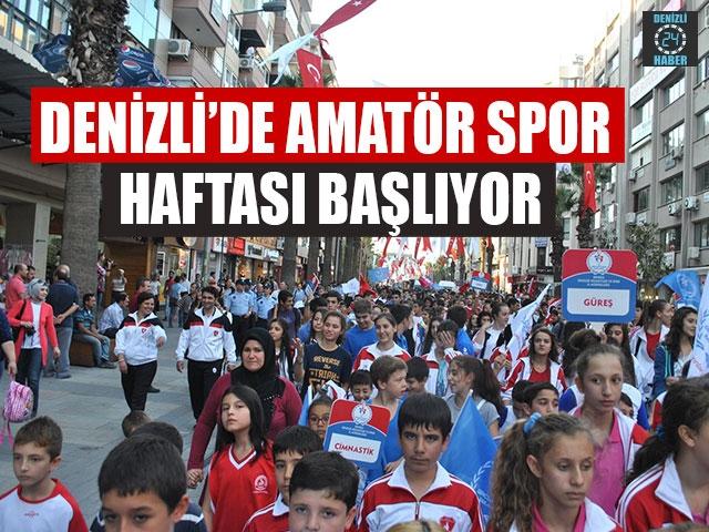 Denizli'de Amatör Spor Haftası Başlıyor 