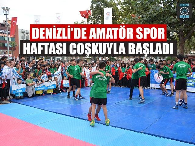 Denizli'de Amatör Spor Haftası Coşkuyla Başladı