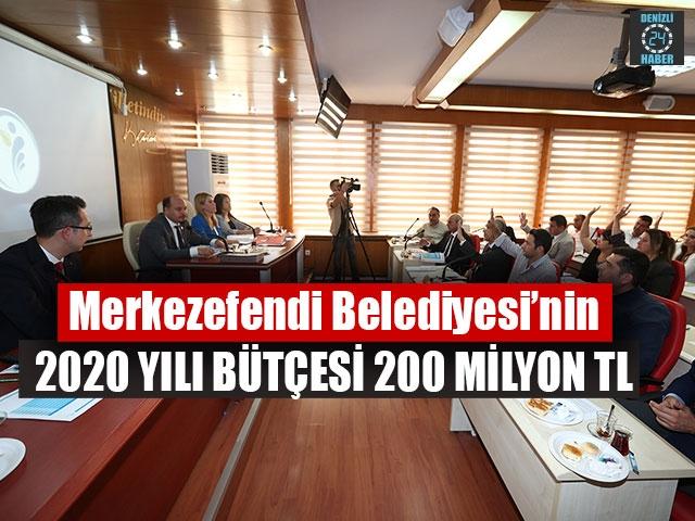 Merkezefendi Belediyesi'nin 2020 Yılı Bütçesi 200 Milyon TL