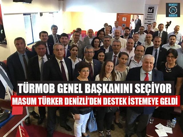TÜRMOB Genel Başkanını Seçiyor Masum Türker Denizli'den Destek İstemeye Geldi