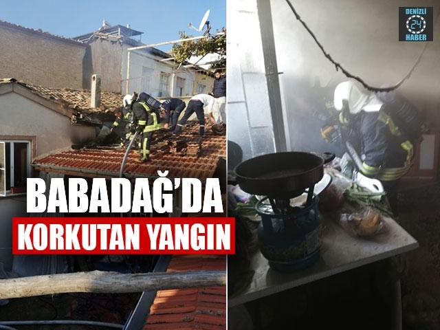 Babadağ'da Korkutan Yangın