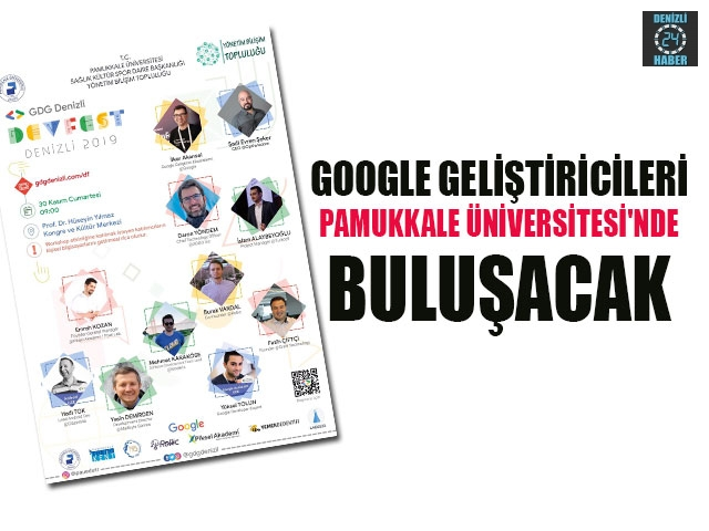 Google Geliştiricileri Pamukkale Üniversitesi'nde buluşacak