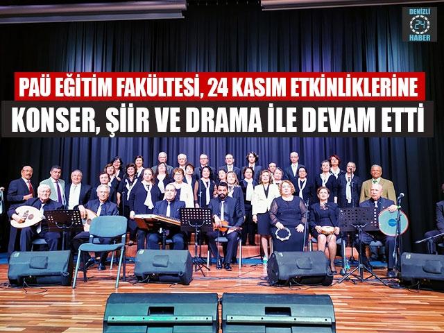PAÜ Eğitim Fakültesi, 24 Kasım Etkinliklerine Konser, Şiir Ve Drama İle Devam Etti