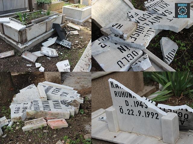 Balçova İlçesindeki Işıkkent Mezarlığı Tahrip Edildi