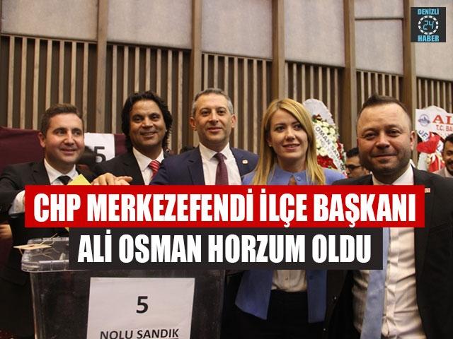 CHP Merkezefendi ilçe Başkanı Ali Osman Horzum oldu