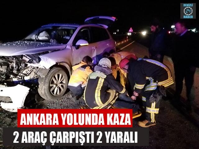 Denizli Bozkurt'ta otomobil lüks ciple çarpıştı
