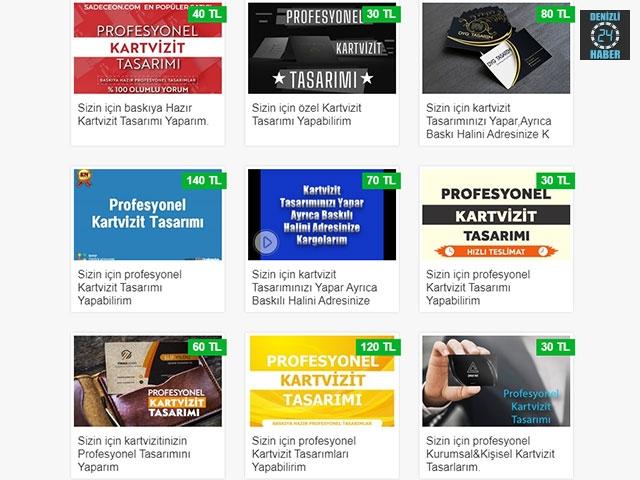 kartvizit tasarlama hizmetleri SadeceOn'da