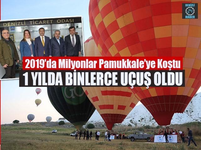 2019'da Milyonlar Pamukkale'ye Koştu 1 Yılda Binlerce Uçuş Oldu
