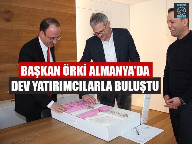 Başkan Örki Almanya'da Dev Yatırımcılarla Buluştu