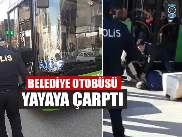 Belediye Otobüsü Yayaya Çarptı