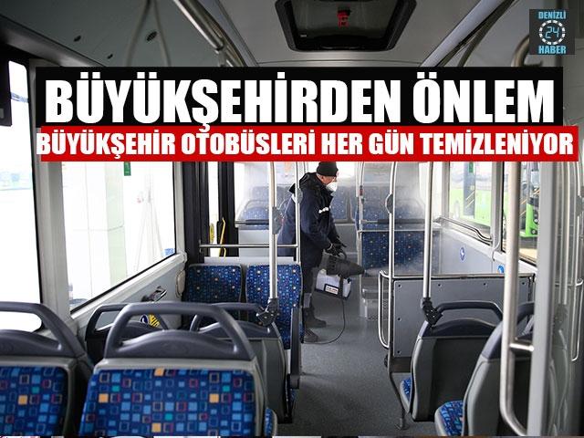 Büyükşehirden Önlem Büyükşehir Otobüsleri Her Gün Temizleniyor