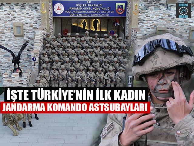 İşte Türkiye'nin İlk Kadın JandarmaKomandoAstsubayları