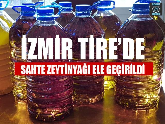 İzmir Tire'de Sahte Zeytinyağı Ele Geçirildi