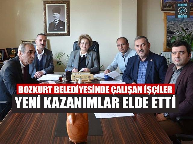 Bozkurt Belediyesinde Çalışan İşçiler Yeni Kazanımlar Elde Etti