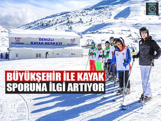 Büyükşehir İle Kayak Sporuna İlgi Artıyor