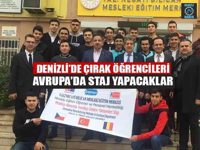 Denizli'de Çırak Öğrencileri Avrupa'da Staj Yapacaklar