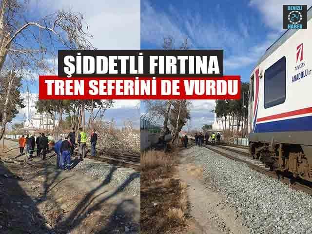 Denizli'de Şiddetli Fırtına Tren Seferini De Vurdu