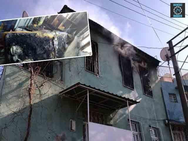 İzmir Konak'ta bir evin çatısında yangın çıktı