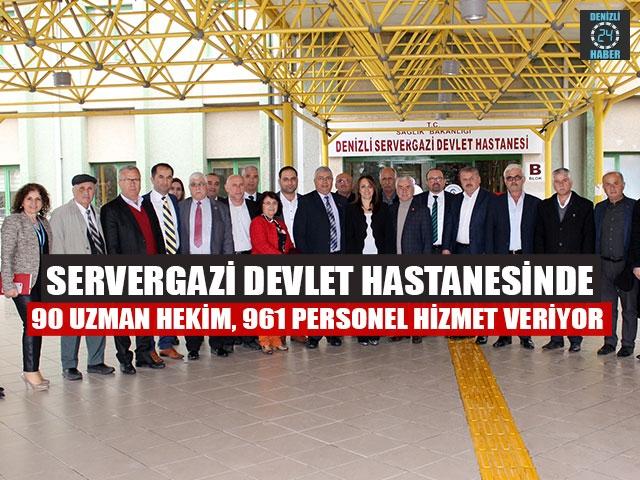 Servergazi Devlet Hastanesinde 90 Uzman Hekim, 961 Personel Hizmet Veriyor