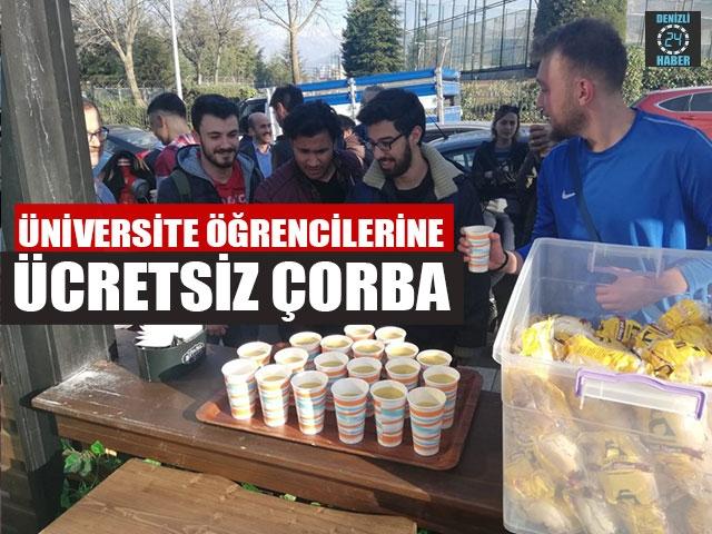 Üniversite Öğrencilerine Ücretsiz Çorba